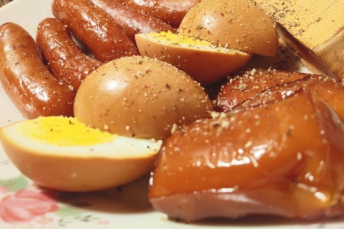 燻製ゆで卵・チーズ・ソーセージ(スモーキーフレーバー)