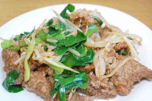 ニラレバ炒め(レバニラ炒め)