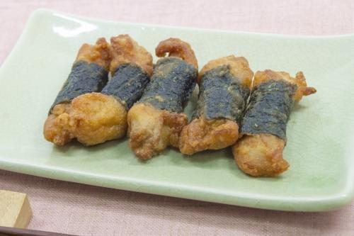 のり巻きチキン(海苔巻きチキン)