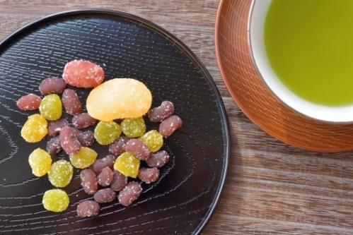 甘納豆と日本茶