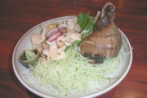ヤコウガイ(夜光貝)の刺身