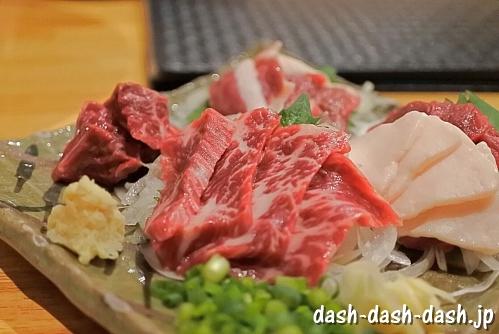 馬刺し盛り合わせ(馬肉料理専門店「蹄」@名古屋新栄)
