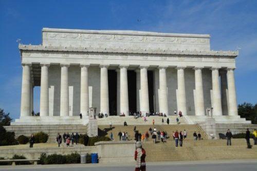ワシントンDCのリンカーン記念堂