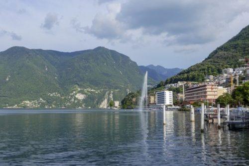ルガーノ湖(スイス・パラディーゾ)