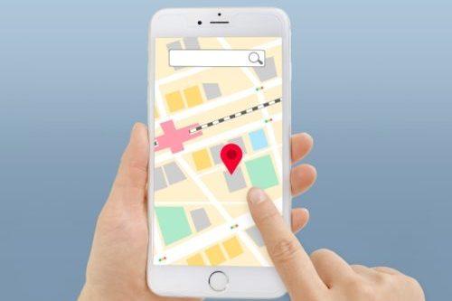 スマホの地図アプリ(ルートマップ)