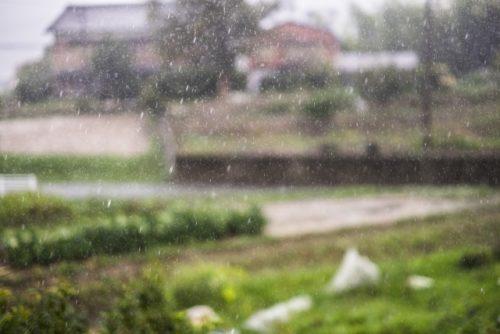 田舎の景色(雨の日・瑞雨)