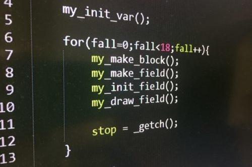 C言語プログラムソースコード(プログラミング言語)
