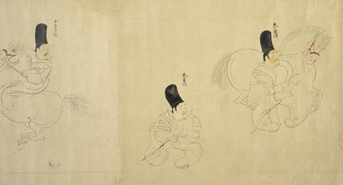 随身庭騎絵巻(東京国立博物館)